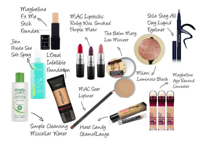 mac makeup products list price