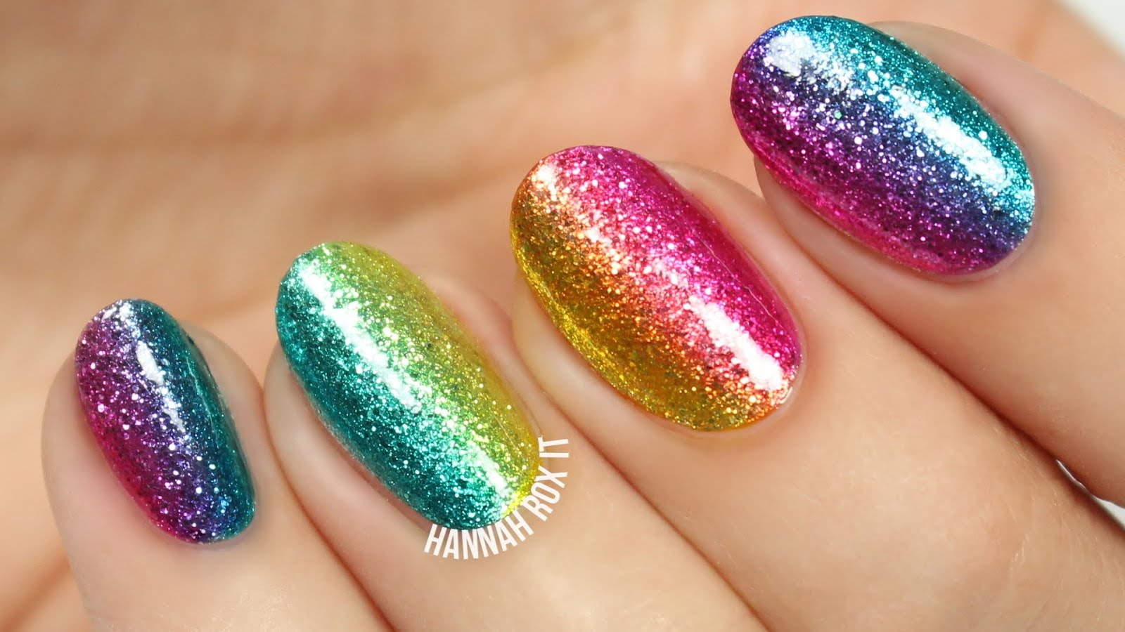 Rock the Rainbow Glitter Nail Art: DIY Tutorial