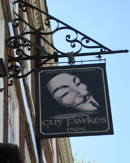 Sign for Guy Fawkes Inn (birthplace), York, England