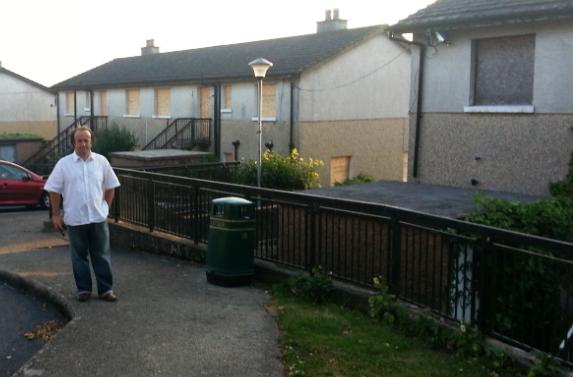 Abandoned social housing, new ross