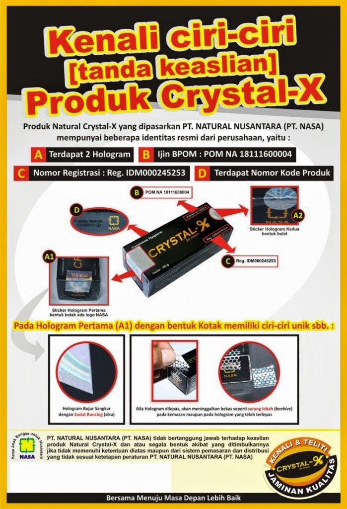 jual crystal x di bandung