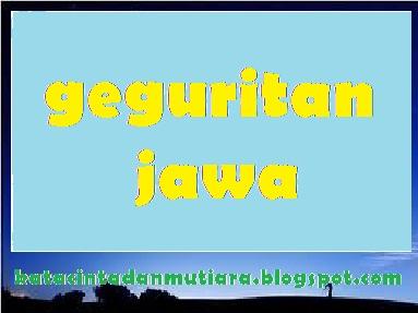 Kata Mutiara Cinta Contoh Geguritan Bahasa Jawi