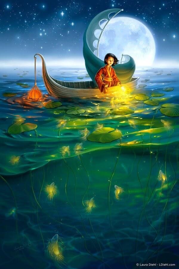 02-Golden-Fish-Laura-Diehl-Fantasy-www-designstack-co
