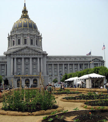 San Francisco City Hall and Slow Food Victory Gardens, 2008