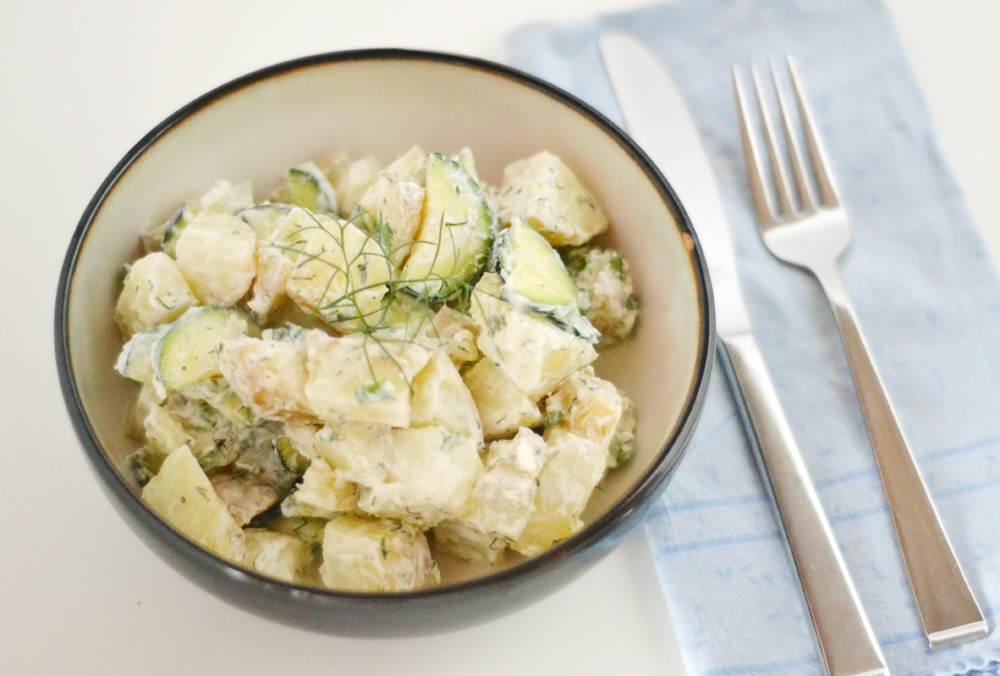 The World In My Kitchen Potato And Zucchini Salad With Dill