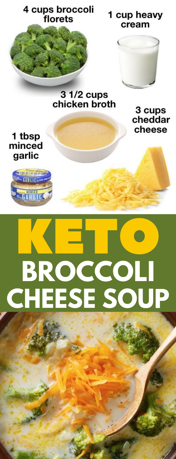 Low Carb Broccoli Cheese Soup #Soup #Keto