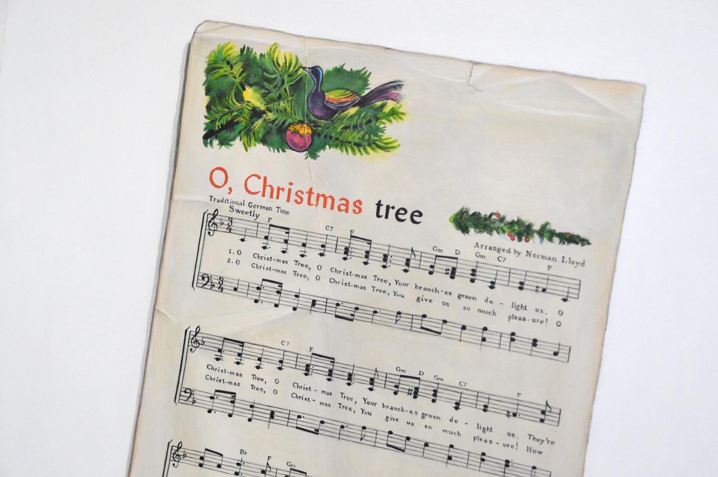 Paintings by Kim Testone: O Christmas Tree - Acrylic Trompe L\'Oeil ...