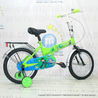 Sepeda Lipat Anak Evergreen EG116 Ben 10 16 Inci Green