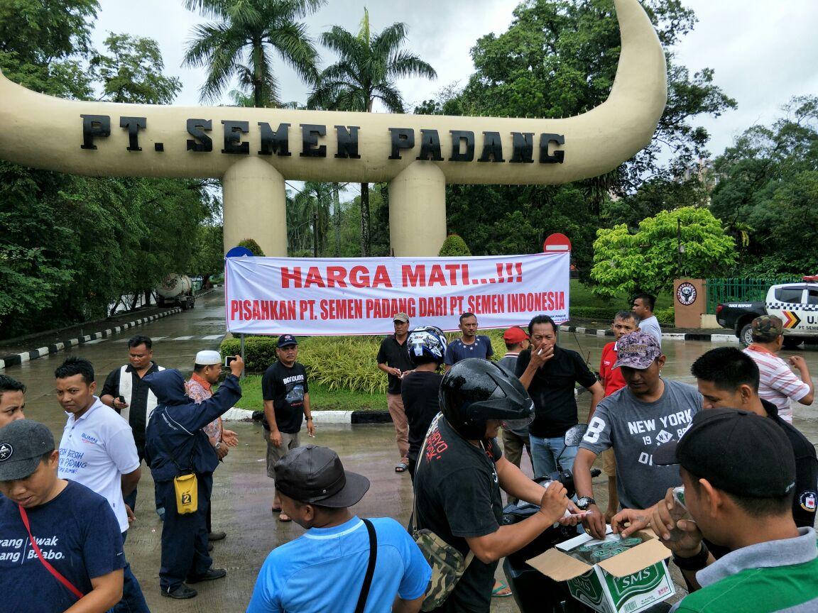"""""""HARGA MATI...!!! Pisahkan PT Semen Padang dari PT Semen Indonesia"""""""