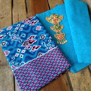 Kain Batik dan Embos 148 b Mega Mendung Biru