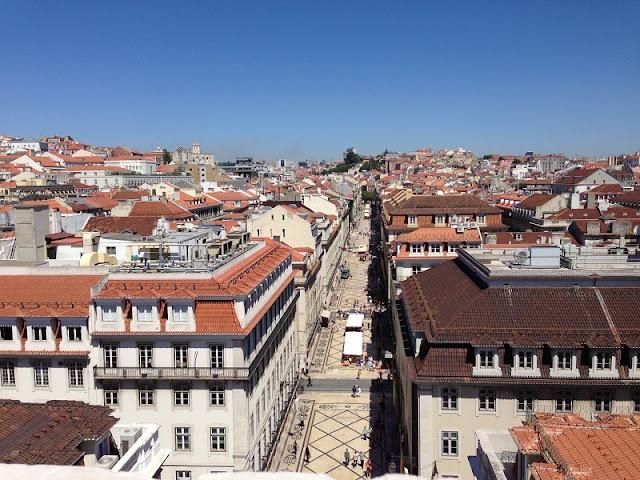 Bairro da Baixa Pombalina em Lisboa