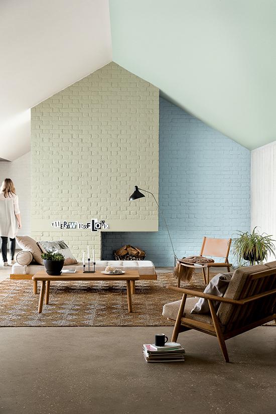 tintas coral, colour futures, parede colorida, sala