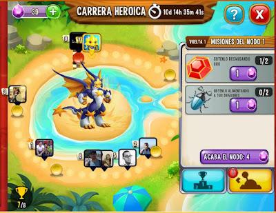 imagen de la ruleta de la suerte de la carrera heroica noble dragon estrella