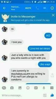 Facebook Chat Screen Shot 1