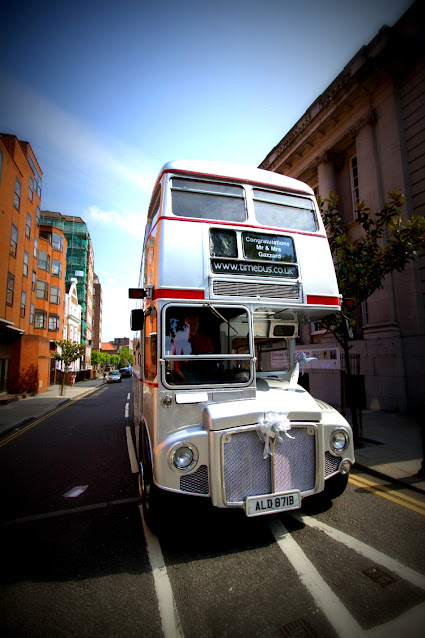 Double decker bus argentato-Londra