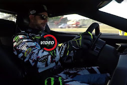 Ken-Block drives the new Ford GT around Le Mans Circuit