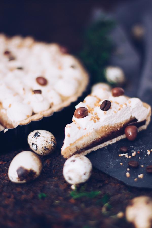 Rezept Kaffeetarte mit Schokolade zu Ostern. titatoni.de