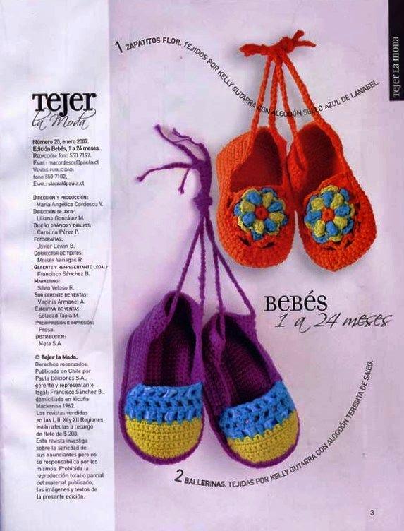 zapatos de bebe crochet