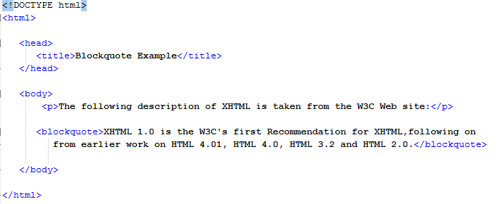 HTML Quoting Text