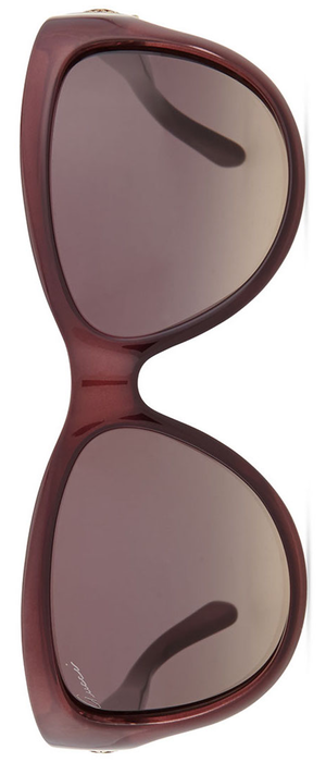 Gucci Cat-Eye Diamantissima Sunglasses, Burgundy