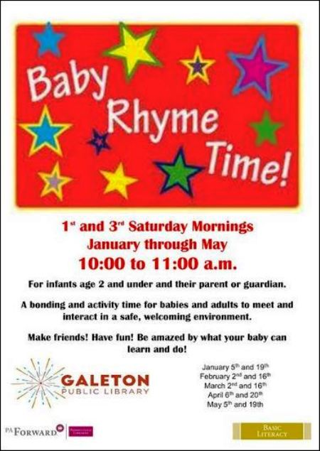 4-5 Baby Rhyme Time, Galeton Library