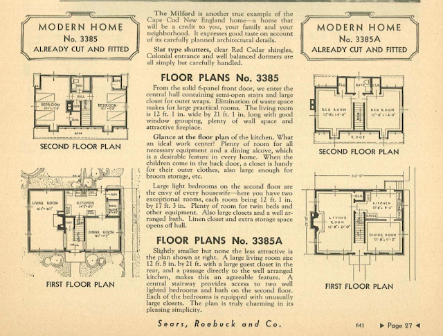 sears catalog 1936 milford floor plan archive.org