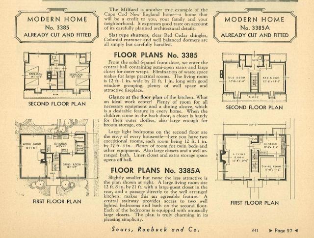 sears catalog 1936 milford floor plan archive.org