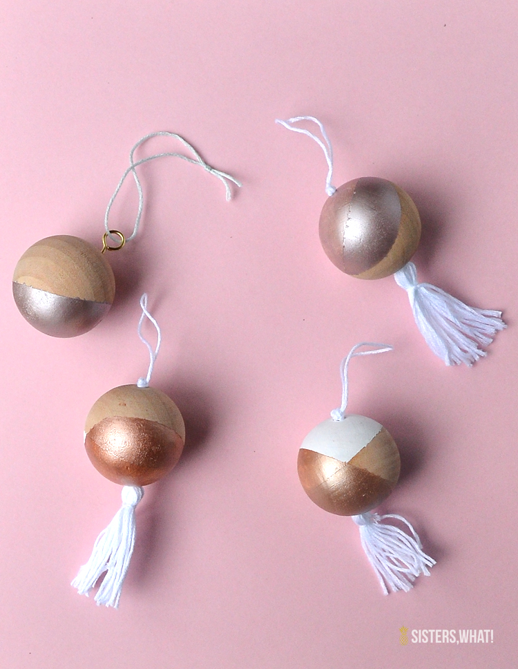 Metallic ornaments DIY