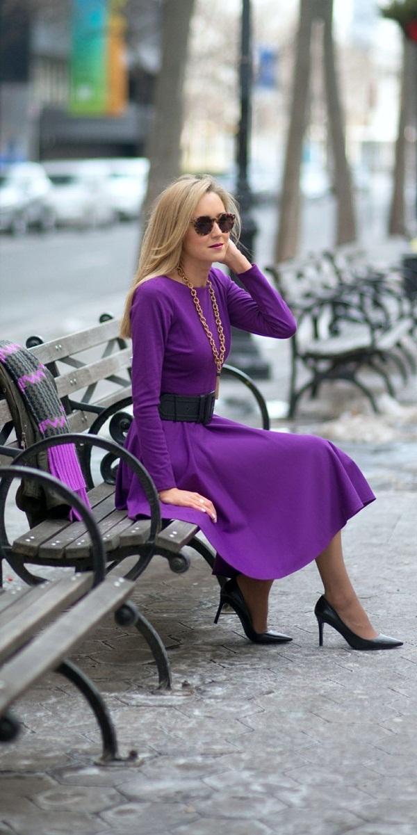 Women Outfit of the Day: Purple