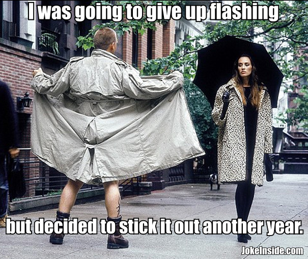 Funny flasher meme joke picture