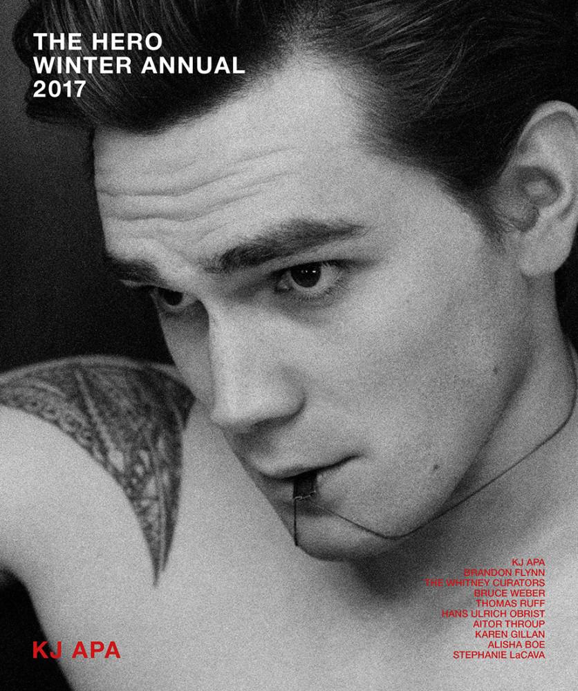 KJ Apa by Fabien Kruszelnicki for Hero Magazine 2017 Winter Annual