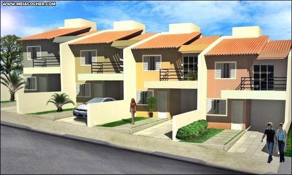 muitas casas geminadas