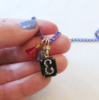 image two cheeky monkeys jewellery tutorial diy necklace personalised personalized monogram thread dangles onto chain