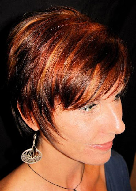 hair red highlights