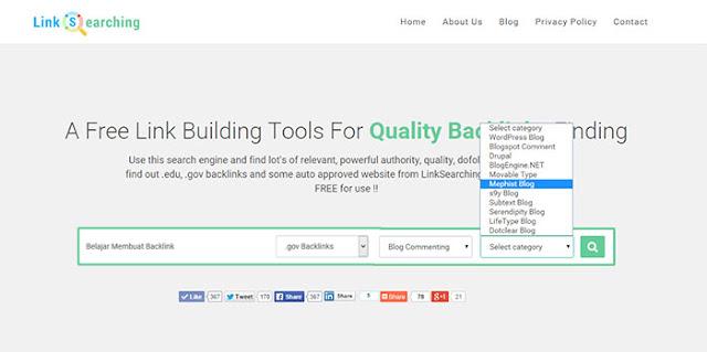 Cara Mencari Backlink Kualitas & Gratis Dengan Linksearching