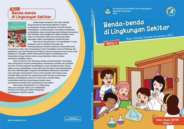 Download Buku Tematik Kurikulum 2013 SD/MI Kelas 5 Tema 1 Benda-benda di Lingkungan Sekitar Edisi Revisi Format PDF