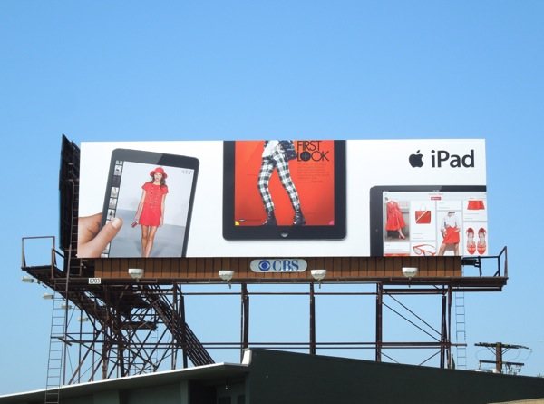 iPad first look fashion billboard ad