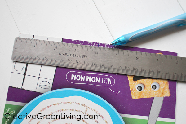How to make an envelope for a card from an empty cereal box