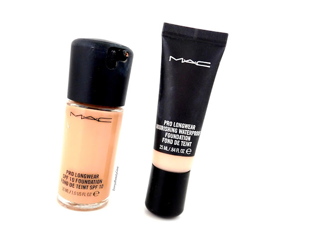 MAC Pro Longwear Foundation vs MAC Waterproof Pro Longwear Foundation