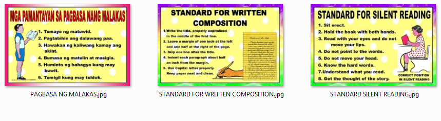 Deped Standard Classroom Design ~ Classroom displays standard reading written composition