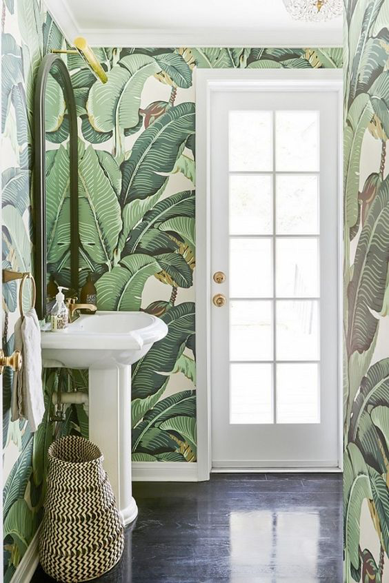 Bathroom Wallpaper - Accent Wall | Lilly Style