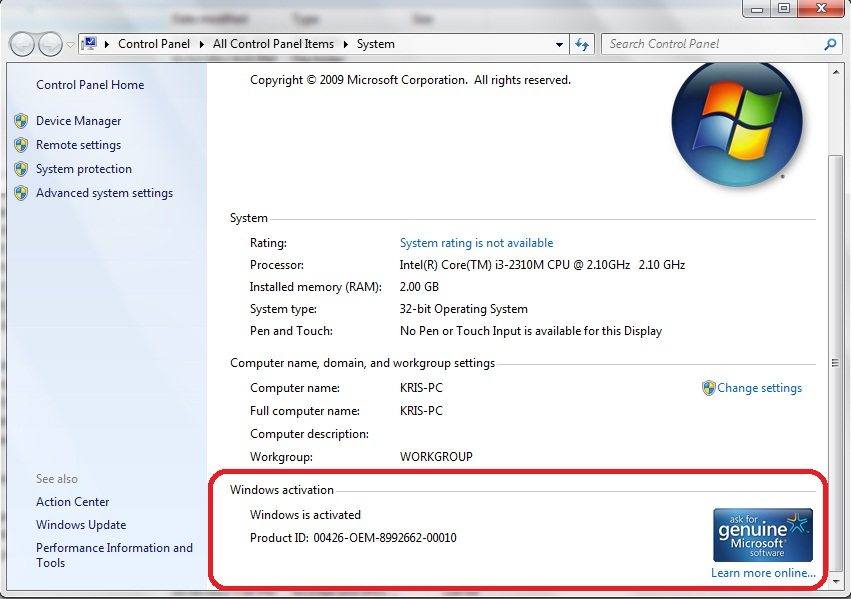 Serial Number Product Key Windows 7 + Tutorial Cara ...