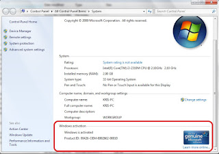 Windows 7 genuine Full versions