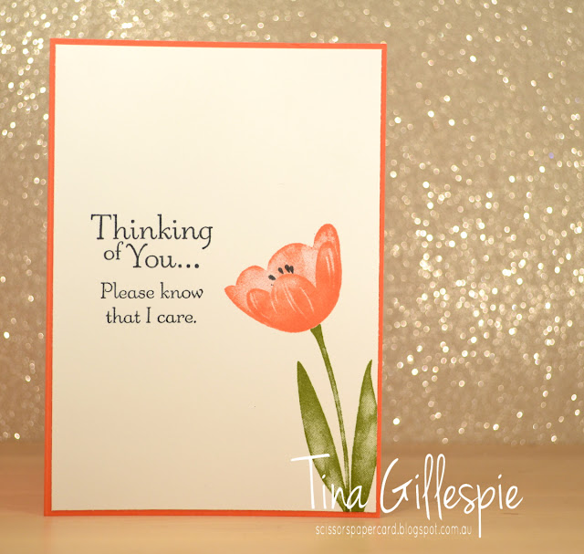 scissorspapercard, Stampin' Up!, Tranquil Tulips, Thoughts & Prayers, Delightful Daisy DSP