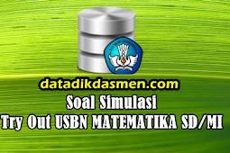 Soal Latihan Try Out USBN Matematika SD/MI Tahun 2018 - 2019