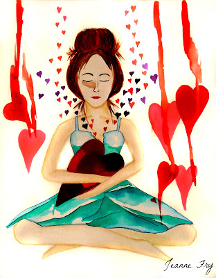 Warrior Woman - Tend to your Heart - Original Watercolor Painting