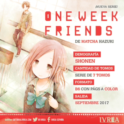 "Ivréa licencia ""Isshukan Friends"" (一週間フレンズ。)."