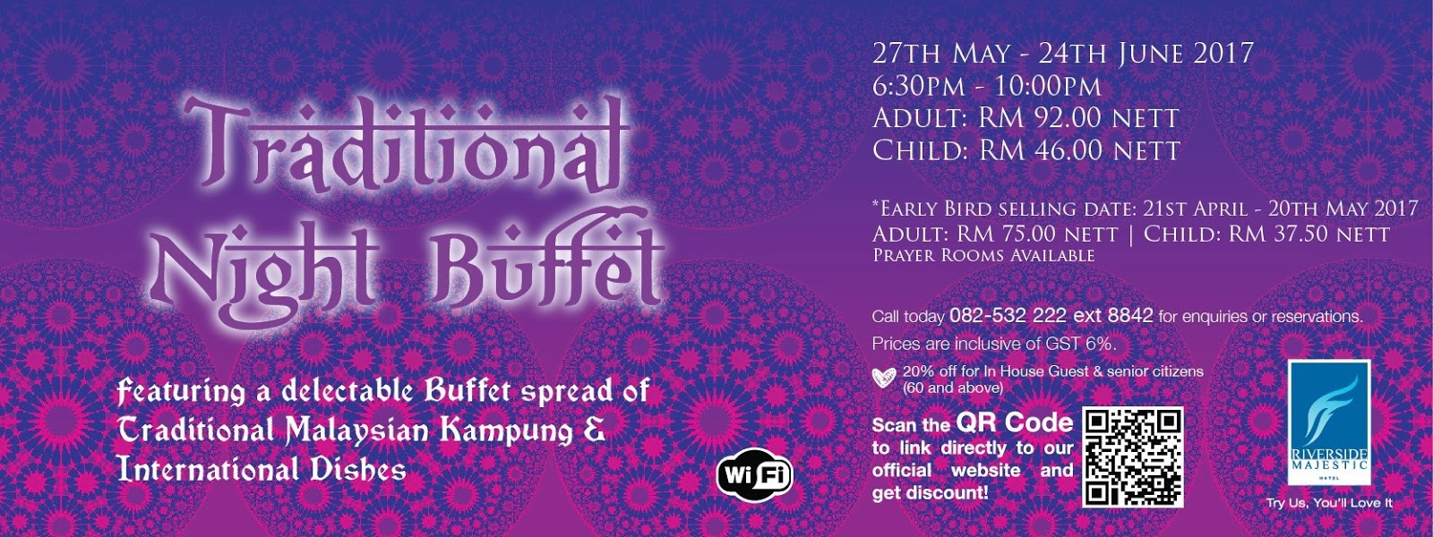 Buffet Ramadhan riverside majestic hotel Sarawak 2017