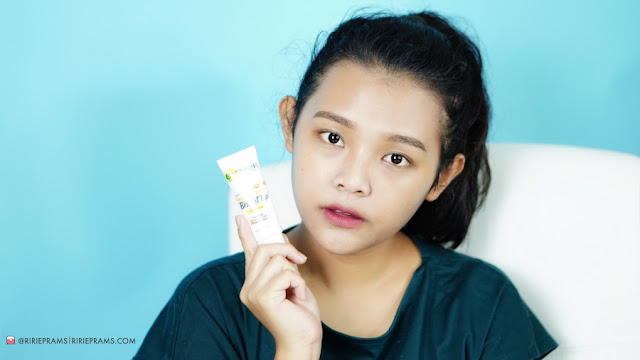 review Garnier Bright Up Tone-Up Cream - beauty blogger indonesia - ririeprams