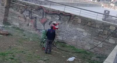 Καθάρισαν από γκράφιτι το Γαλεριανό συγκρότημα στη Θεσσαλονίκη